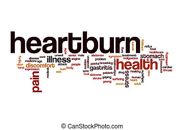 Heartburn word cloud concept - Heartburn word cloud