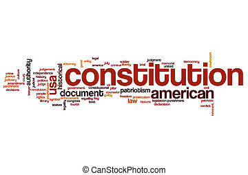 Constitution word cloud concept - Constitution word cloud