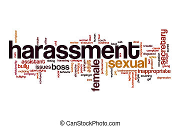 Harassment word cloud concept - Harassment word cloud