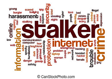 Stalker word cloud concept