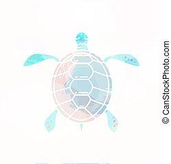 Sea turtle silhouette.