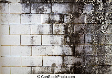 Surface brick grungy wall with cream tones for use as background, copyspace