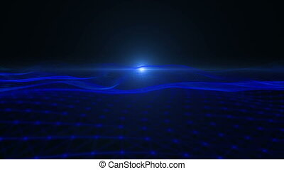 Looping Abstract wave background. Full HD Resolution...