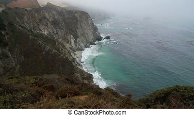 PCH Cliff ocean California scenic view