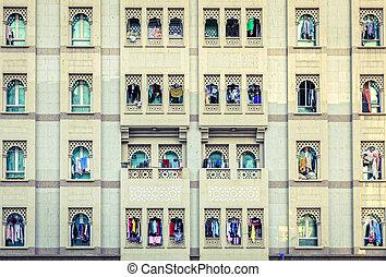 Windows of Bur Dubai - Residential house facade in Bur...