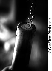 Wine in wine cellar - Wine. Glass of white wine in wine...