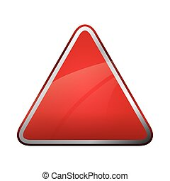 Red triangle icon. Road sign design. Vector graphic