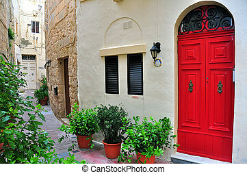 Typical house and patio in Malta