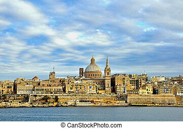 Panorama of Valetta old town, Malta