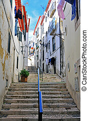 Stairs in Alfama district, Lisbon