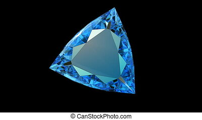 Blue gem diamond rotation loop
