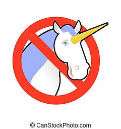 Ban unicorn. Stop magical animal. Prohibited sexual symbol...