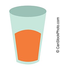 glass cup with liquid icon - flat design glass cup with...