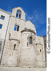 Knights Templar Church of Ognissanti. Trani. Apulia.
