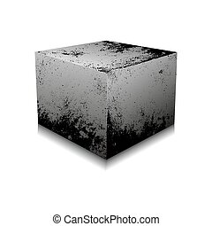 Concrete cube - vector illustration - Concrete cube isolated...