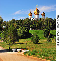 Yaroslavl cathedral and city park