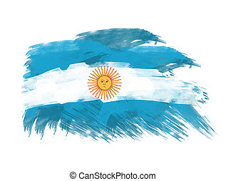 argentina flag in brush strokes in white background