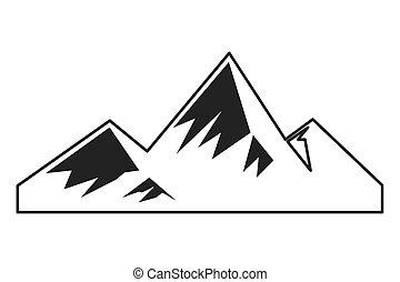 snowy mountains icon