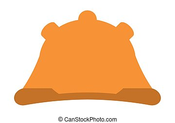 construction helmet icon - flat design construction helmet...