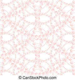 Nacreous pearl pink jewelry seamless pattern - Nacreous...