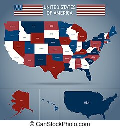 Political Map Of USA Poster