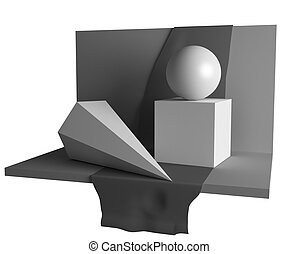 geometry still life image - educationary geometry still life...