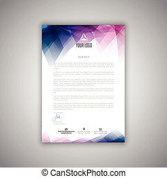 letterhead template - Layout design for a business...