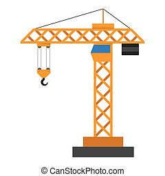 Construction crane in a flat style