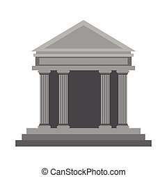 ancient greek building icon