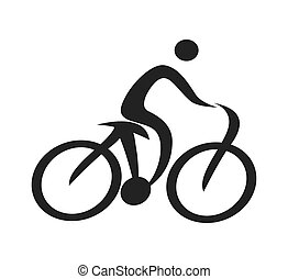 human figure silhouette bicycle icon