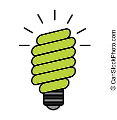 bulb saver green icon