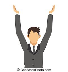 businessman with arms up icon