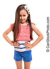 No! I don't want to! - Studio shot of a mad young girl -...