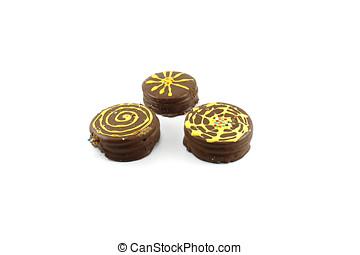 Galletas, con, chocolate, y, delicadeza