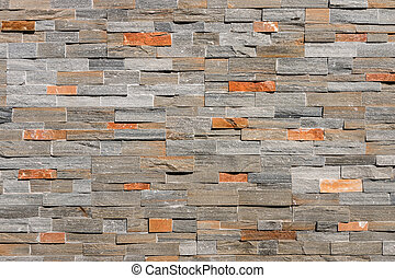 natural stone wall cladding - closeup of natural stone wall...