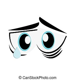 sad cartoon eyes icon