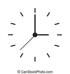 clock face icon - flat design clock face icon vector...