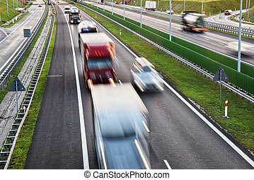 Four lane controlled-access highway in Poland.