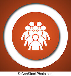 Group of people icon Internet button on white background
