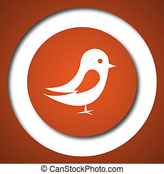 Bird icon Internet button on white background