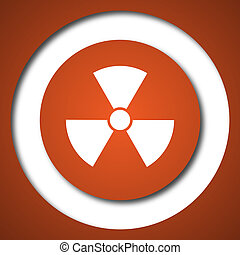 Radiation icon Internet button on white background