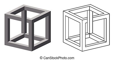 Impossible cube optical illusion Also known as irrational...