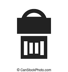 Usb silhouette icon. Gadget and technology design. Vector...