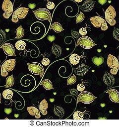 Seamless dark floral pattern
