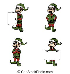 elf sign illustration design collection