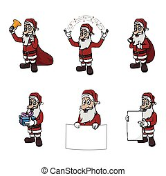 santa clause illustration design collection