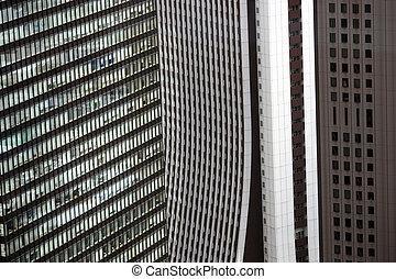 Wall of Buildings in Shinjuku