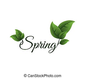 Leaf icon. Nature and spring design. Vector graphic - Nature...