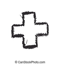 Cross sketch icon. Shape design. Vector graphic - Shape...