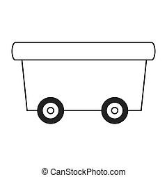 toy wagon icon - flat design toy wagon icon vector...